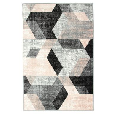 Dywan Pastel Kafel szaro-różowy 120 x 170 cm