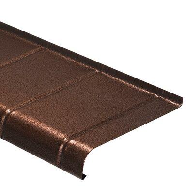 Parapet zewnętrzny STALOWY Miedź antyczna 25 x 200 cm DOMIDOR