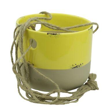 Osłonka ceramiczna 13 x 13 cm żółta 985278