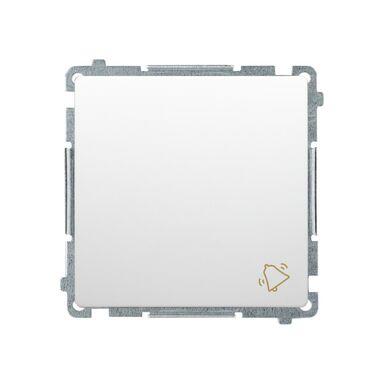 Przycisk DZWONEK BASIC  Biały  SIMON