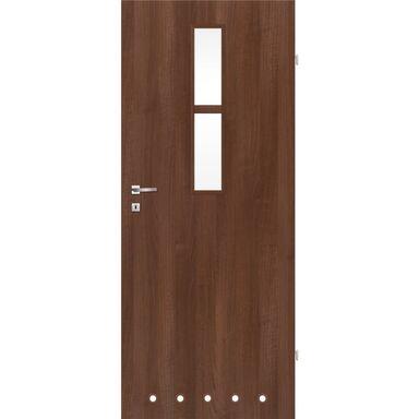 Skrzydło drzwiowe z tulejami wentylacyjnymi Remo Orzech 70 Prawe Classen
