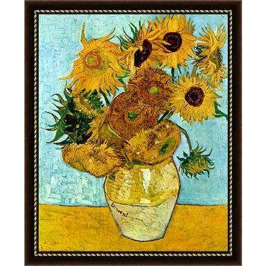 Obraz SŁONECZNIKI VINCENT VAN GOGH 55.2 x 75.2 cm  NIELSEN