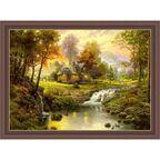 Obraz PEJZAŻ Z SARNAMI THOMAS KINKADE 78,5 x 58,5 cm