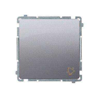 Przycisk DZWONEK BASIC  Srebrny  SIMON