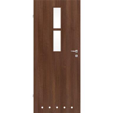 Skrzydło drzwiowe z tulejami wentylacyjnymi REMO Orzech 70 Lewe CLASSEN