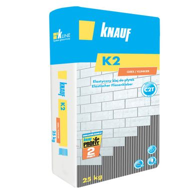 Elastyczny klej do płytek K2 GRES KLINKIER 25.00 kg KNAUF