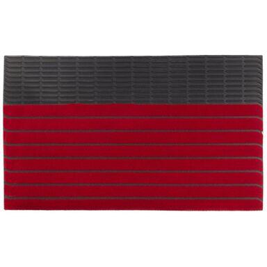 Wycieraczka wewnętrzna PASY 74 x 44 cm gumowa czerwona INSPIRE