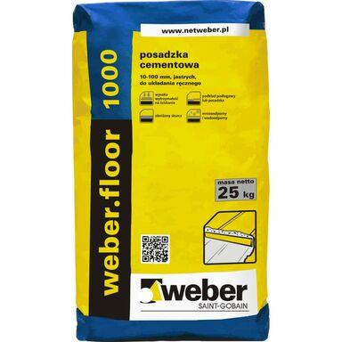 Posadzka cementowa WEBER FLOOR 1000 25 kg WEBER