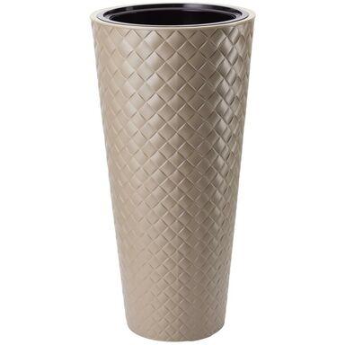 Doniczka plastikowa 40 cm beżowa SLIM