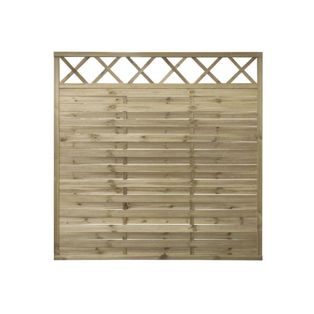 P ot lamelowy z kratk 180 cm x 180 cm stelmet panele os onowe parawany w atrakcyjnej cenie - Balkon bescherming leroy merlin ...