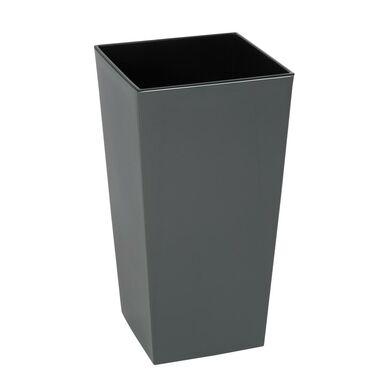 Doniczka plastikowa 19 x 19 cm antracytowa FINEZJA