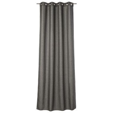 Zasłona LOOKS ciemnoszara 140 x 280 cm na przelotkach INSPIRE