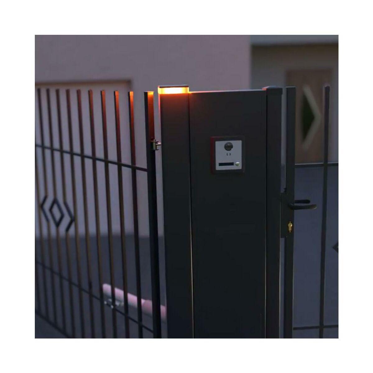 Słupek Bramowy Z Lampą Led 10 X 10 X 220 Cm Antracytowy Polargos