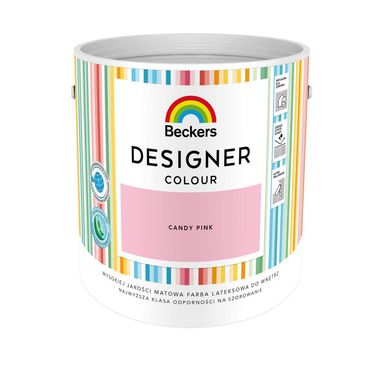 Farba wewnętrzna DESIGNER COLOUR 2.5 l Candy Pink BECKERS