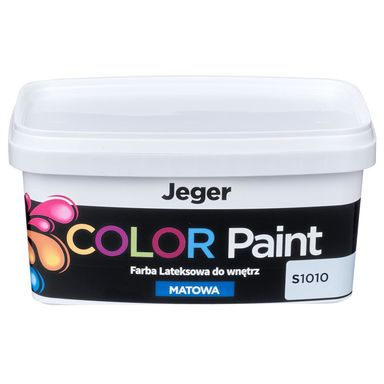 Farba dekoracyjna COLOR PAINT 1 l S1010 Lateksowa matowa JEGER