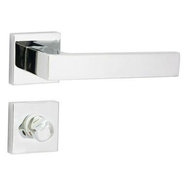 Klamka drzwiowa na rozecie do WC BIBLO-QR Chrom