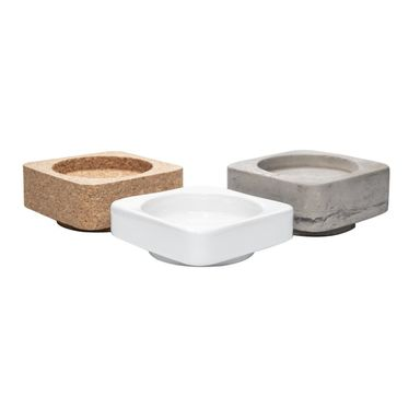 Świecznik ceramiczny 3 w 1 ceramika, beton, korek
