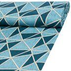 Tkanina na mb TROIS niebieska szer. 180 cm