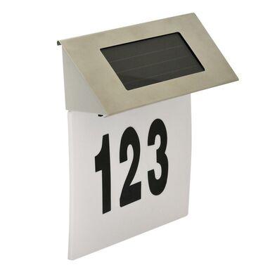 Kinkiet solarny NUMER DOMU IP44 biały POLUX