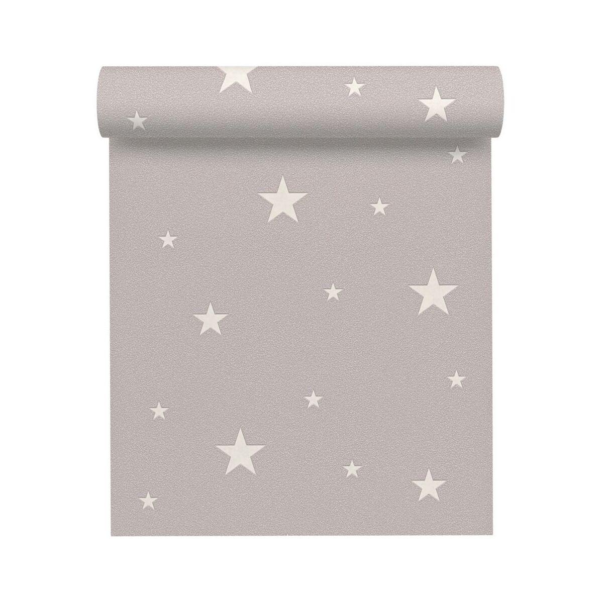 Tapeta Dla Dzieci Gwiazdy Szara Winylowa Na Flizelinie Tapety W Atrakcyjnej Cenie W Sklepach Leroy Merlin