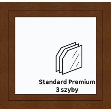 Okno PCV 3-szybowe O5 Złoty dąb 865 x 835 mm