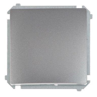 Włącznik pojedynczy BASIC  inox, metalizowany  SIMON