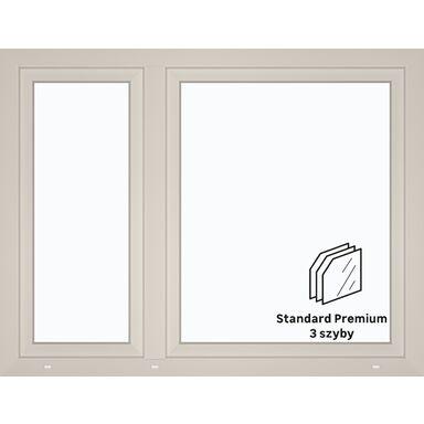 Okno PCV 3-szybowe O18 Białe 1465 x 1135 mm