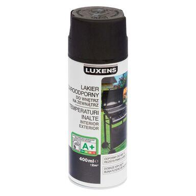 Lakier żaroodporny wysokotemperaturowy 400 ml Czarny LUXENS