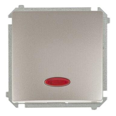 Włącznik pojedynczy z podświetleniem BASIC  satynowy  SIMON