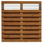 Płot szczelny z dekorem 180x180 cm drewniany MALMO WERTH-HOLZ