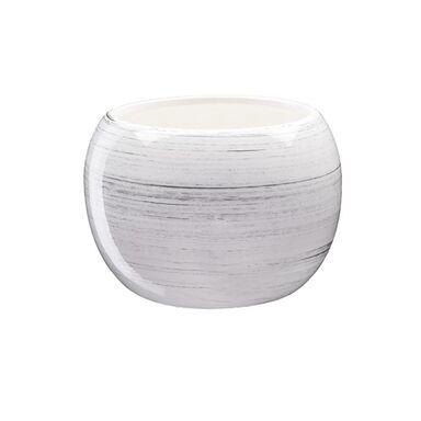 Doniczka ceramiczna 11 cm biała KULA 2 J1536 EKO-CERAMIKA