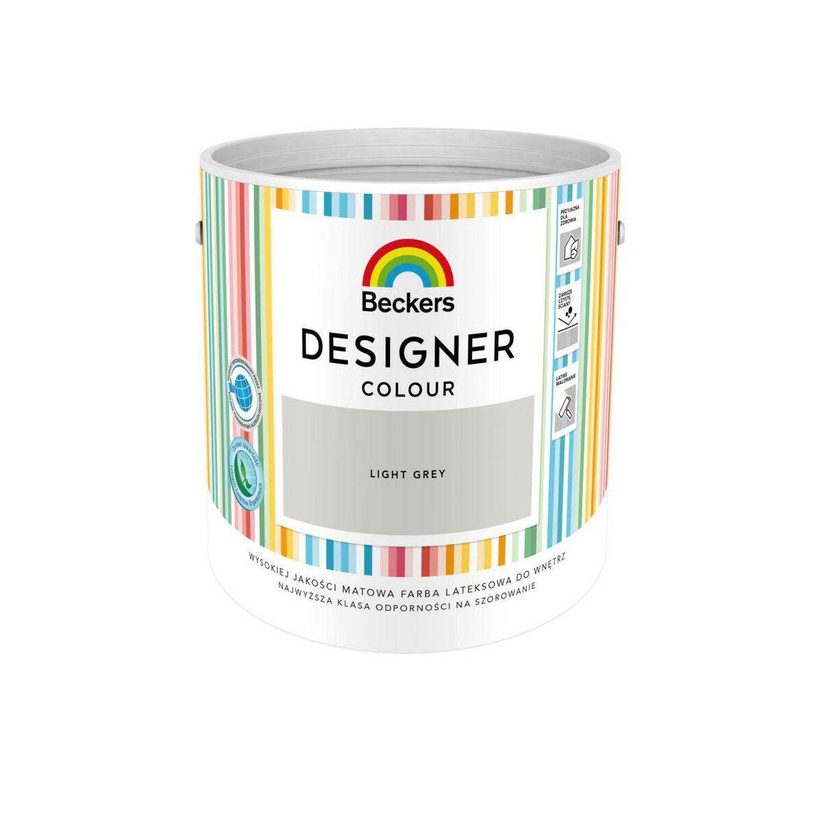 Farba Wewnetrzna Designer Colour 2 5 L Light Grey Beckers Farby Scienne Kolorowe W Atrakcyjnej Cenie W Sklepach Leroy Merlin