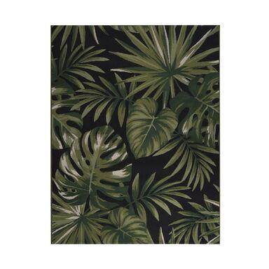 Dywan zewnętrzny w liście Borneo zielono-czarny 160 x 230 cm