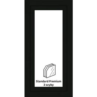 Okno PCV 3-szybowe O11 Antracyt 565 x 1135 mm