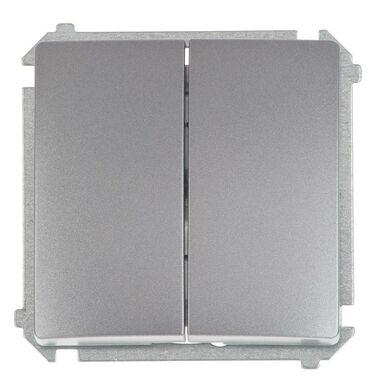 Włącznik schodowy PODWÓJNY BASIC Srebrny SIMON