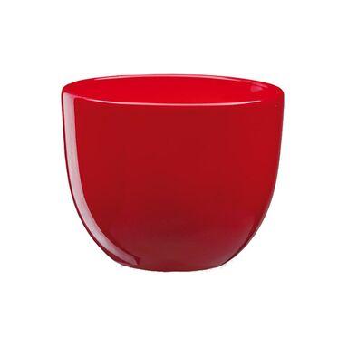 Doniczka ceramiczna 22 cm czerwona BARYŁKA 4 J20 EKO-CERAMIKA