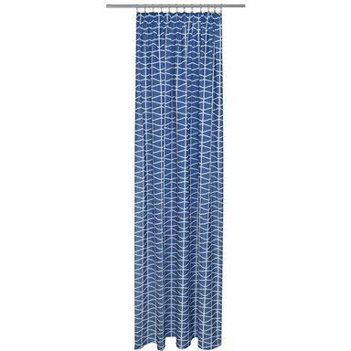 Zasłona Cleo ciemnoniebieska 140 x 250 cm na taśmie