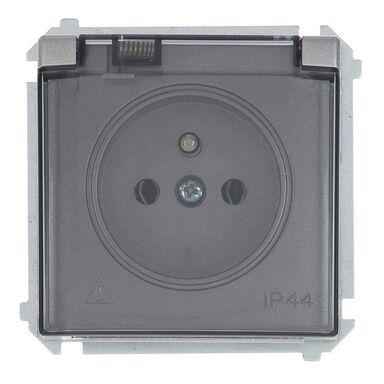 Gniazdo pojedyncze IP44 BASIC  inox  SIMON