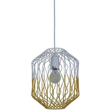 Lampa wisząca MEREDITH biało-żółta E27 INSPIRE