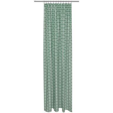 Zasłona CLEO zielona 140 x 250 cm na taśmie
