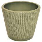 Osłonka na doniczkę 19.2 cm ceramiczna zielona STOŻEK