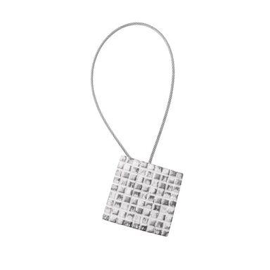 Upinacz do zasłon z magnesem ANTIC SQUARE srebrny