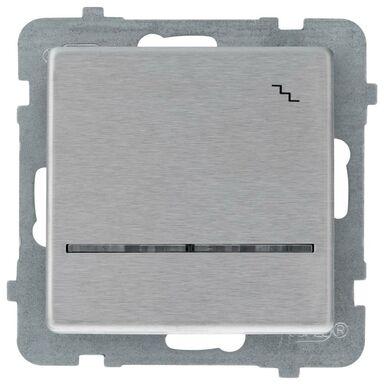 Włącznik schodowy Z PODŚWIETLENIEM SONATA  Srebrny  OSPEL