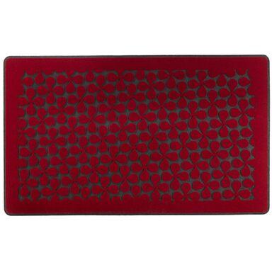 Wycieraczka wewnętrzna CLOVER 44 x 74 cm gumowa czerwona INSPIRE