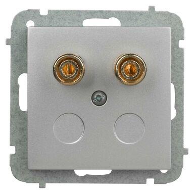Gniazdo głośnikowe pojedyncze ASTORIA srebrny ELEKTRO-PLAST