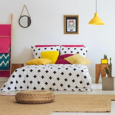 Odważny eklektyzm w sypialni