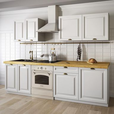 Zestaw mebli kuchennych GAJA BIAŁA kolor Biały CLASSEN  Meble kuchenne w zes   -> Kuchnie Inspiracje Leroy Merlin