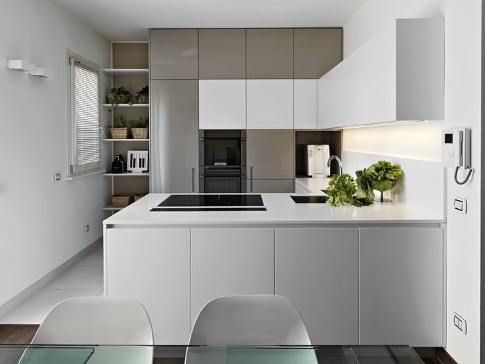 Jak zaaranżować małą kuchnię  porady Leroy Merlin -> Mala Kuchnia Jaki Kolor Mebli