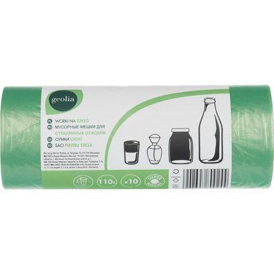 Worki na śmieci 110 l 10 szt. zielone GEOLIA