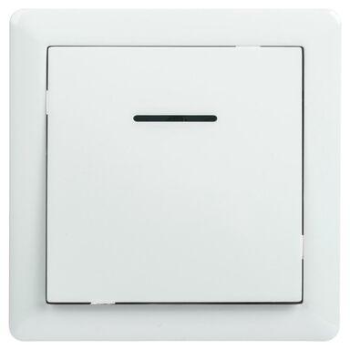 Przycisk do dzwonka podświetlany SLIM  biały  LEXMAN